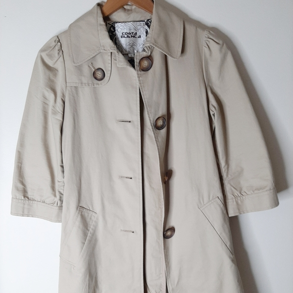 coasta blanca Jackets & Blazers - Gorgeous 3/4 length sleeve trench coat